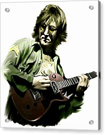 Instant Karma  John Lennon Acrylic Print by Iconic Images Art Gallery David Pucciarelli