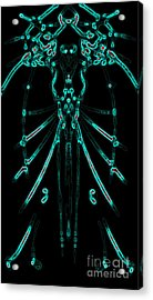Acrylic Print featuring the digital art Instinct Color Variation 1 by Devin  Cogger
