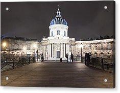 Institut De France - Parisian Night Scene Acrylic Print by Mark E Tisdale