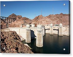 Intake Towers For The Hoover Dam Acrylic Print