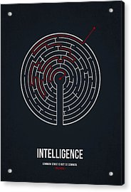 Intelligence Acrylic Print by Aged Pixel