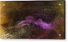 Intensity Golden Purple Acrylic Print by L J Smith