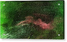 Intensity Green Pink Acrylic Print by L J Smith