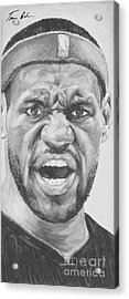 Intensity Lebron James Acrylic Print