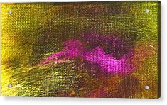 Intensity Yellow Pink Hue Acrylic Print by L J Smith