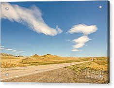 Interesting Clouds In Big Sky Country Acrylic Print