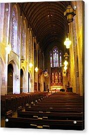 Interior - Egner Memorial Chapel - Muhlenberg College Acrylic Print by Jacqueline M Lewis