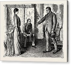 Interior, 1888 Engraving Acrylic Print by Du Maurier, George L. (1834-97), English