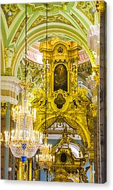 Interior - Cathedral Of Saints Peter And Paul - St Petersburg Russia Acrylic Print
