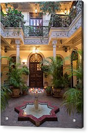 Interior Courtyard Of Villa Des Acrylic Print by Panoramic Images