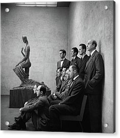Interior Designers At Moma Acrylic Print by Cecil Beaton