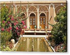 Interior Garden With Pond In Yazd Iran Acrylic Print