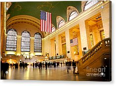 Interior Grand Central Station Acrylic Print by Linda  Parker