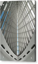 Interior Milwaukee Art Museum Acrylic Print by Paul Plaine