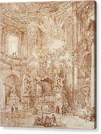 Interior Of A Church  Acrylic Print