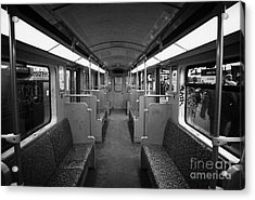 Interior Of A German U-bahn Train Berlin Germany Acrylic Print by Joe Fox