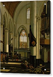 Interior Of An Imaginary Protestant Gothic Church Acrylic Print