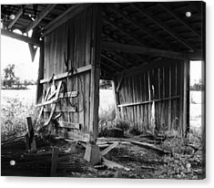 Interior Of Barn In Plainville Indiana Acrylic Print