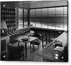Interior Of Beach House Owned By Anatole Litvak Acrylic Print
