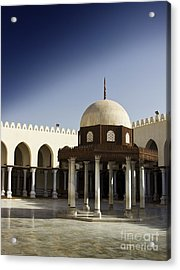 Acrylic Print featuring the photograph Interior Of Islamic Mosque by Mohamed Elkhamisy