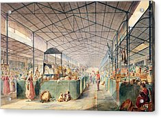 Interior Of Les Halles Acrylic Print by Max Berthelin