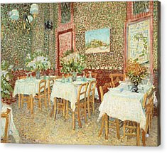 Interior Of Restaurant Acrylic Print by Vincent van Gogh