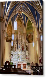 Interior Of St. Mary's Church Acrylic Print