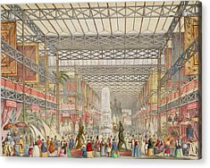 Interior Of The Crystal Palace, Pub Acrylic Print by Augustus Butler