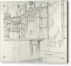 Interior Of The Grand Conde Bar Acrylic Print by Carl Oscar August Erickson
