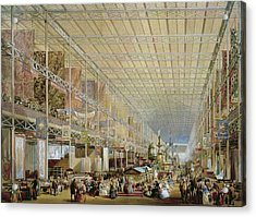 Interior Of The Great Exhibition Of All Acrylic Print by Edmund Walker