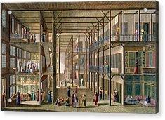 Interior Of The Harem Acrylic Print by Anton Ignaz Melling