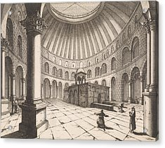 Interior Of The Holy Sepulchre In Jerusalem Israel Acrylic Print