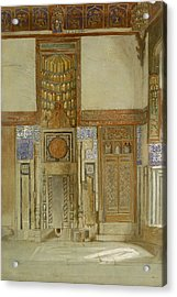Interior Of The House Of The Mufti Acrylic Print by Frank Dillon