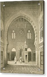 Interior Of The Mosque Of Qaitbay, Cairo Acrylic Print by French School