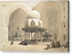 Interior Of The Mosque Of The Sultan El Acrylic Print by David Roberts