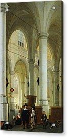 Interior Of The Oude Kerk In Delft Acrylic Print by Hendrik Cornelisz van Vliet