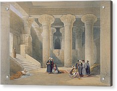 Interior Of The Temple At Esna, Upper Egypt, From Egypt And Nubia, Engraved By Louis Haghe Acrylic Print