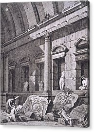 Interior Of The Temple Of Diana, Nimes Acrylic Print