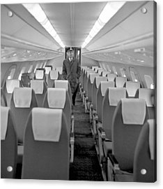 Interior Of Tu-144 Supersonic Airliner Acrylic Print by Science Photo Library