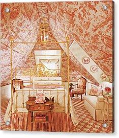 Interior Of Vintage Bedroom Acrylic Print by Durston Saylor