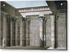 Grand Temple On The Island Of Philae Acrylic Print by Antoine Phelippeaux