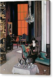 Interior - The Orange Blind, C.1928 Acrylic Print by Francis Campbell Boileau Cadell