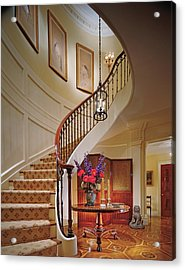 Interior View Home With Staircase Acrylic Print