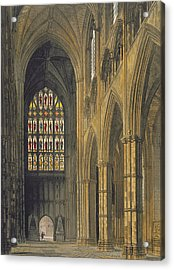 Interior View Of Westminster Abbey Acrylic Print