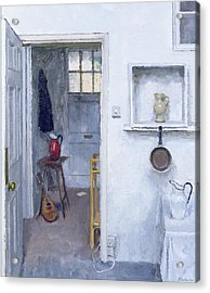 Interior With Red Jug Acrylic Print by Charles E Hardaker