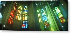 Interiors Of A Church Designed Acrylic Print