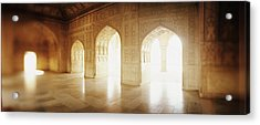 Interiors Of A Hall, Agra Fort, Agra, Uttar Pradesh, India Acrylic Print by Panoramic Images