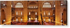 Interiors Of A Mosque, Selimiye Mosque Acrylic Print by Panoramic Images