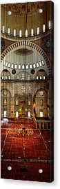 Interiors Of A Mosque, Suleymanie Acrylic Print