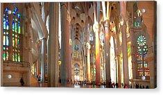 Interiors Of La Sagrada Familia Acrylic Print by Panoramic Images